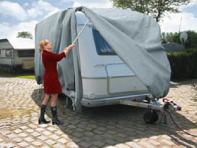 las wohnwagenplane abdeckplane wohnwagen abdeckung schutzh lle cover l 5 90 m. Black Bedroom Furniture Sets. Home Design Ideas